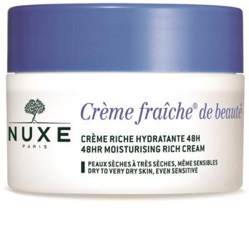 Nuxe Crème Fraîche de Beauté crème hydratante et nourrissante pour peaux sèches à très sèches