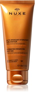 Nuxe Sun Selbstbräunercreme für Körper und Gesicht mit feuchtigkeitsspendender Wirkung