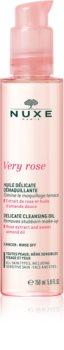 Nuxe Very Rose aceite limpiador suave para rostro y ojos