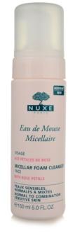 Nuxe Cleansers and Make-up Removers pjena za čišćenje za normalnu i mješovitu kožu lica