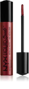 NYX Professional Makeup Liquid Suede™ Metallic Matte Wasserbeständiger Flüssig-Lippenstift mit Metallic-Finish