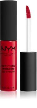 NYX Professional Makeup Soft Matte Metallic Lip Cream matt metál hatású folyékony ajakrúzs