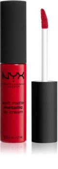 NYX Professional Makeup Soft Matte Metallic Lip Cream tekutá rtěnka s metalicky matným finišem