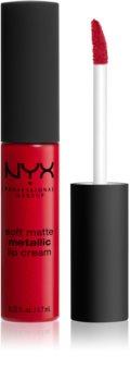 NYX Professional Makeup Soft Matte Metallic Lip Cream течно червило с метално-матов завършек