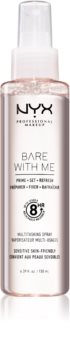 NYX Professional Makeup Bare With Me Prime-Set-Refresh Multitasking Spray spray leggero multifunzione