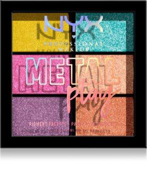 NYX Professional Makeup Metal Play metálszínű szemhéjfesték