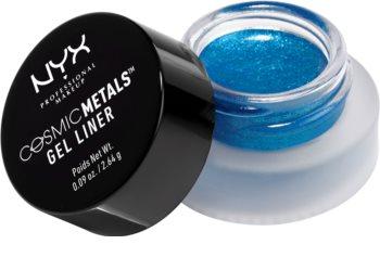NYX Professional Makeup Cosmic Gel Liner™ gelové oční linky se třpytkami