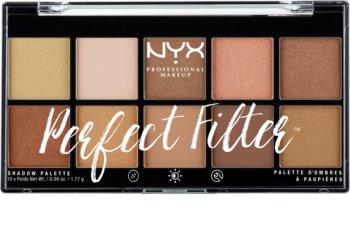 NYX Professional Makeup Perfect Filter Shadow Palette szemhéjfesték paletta