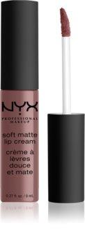 NYX Professional Makeup Soft Matte Lip Cream ruj lichid mat, cu textură lejeră