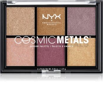 NYX Professional Makeup Cosmic Metals™ палитра сенки за очи