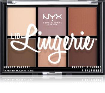 NYX Professional Makeup Lid Lingerie палитра от 6 преливащи се нюанса