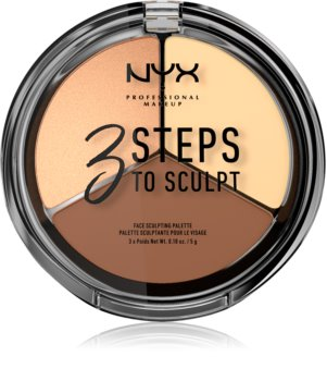 NYX Professional Makeup 3 Steps To Sculpt palette contouring