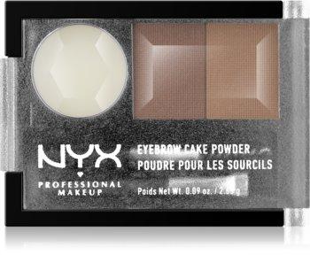 NYX Professional Makeup Eyebrow Cake Powder kit per sopracciglia
