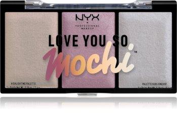 NYX Professional Makeup Love You So Mochi paletă de iluminatoare