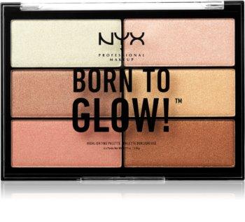 NYX Professional Makeup Born To Glow paletă de iluminatoare