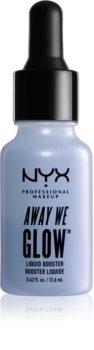 NYX Professional Makeup Away We Glow рідкий хайлайтер з дозатором