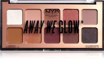 NYX Professional Makeup Away We Glow szemhéjfesték paletta