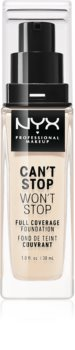 NYX Professional Makeup Can't Stop Won't Stop fond de ten cu acoperire ridicată