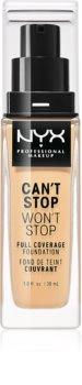 NYX Professional Makeup Can't Stop Won't Stop Magas fedésű alapozó