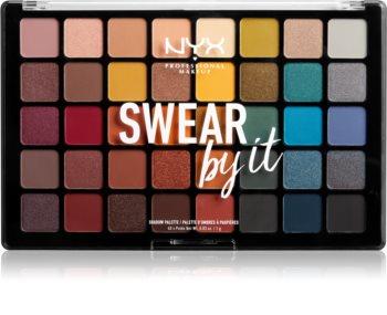 NYX Professional Makeup Swear By It szemhéjfesték paletta