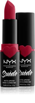 NYX Professional Makeup Suede Matte  Lipstick barra de labios matificante