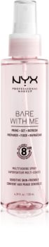 NYX Professional Makeup Bare With Me Prime-Set-Refresh Multitasking Spray spray leggero multifunzione