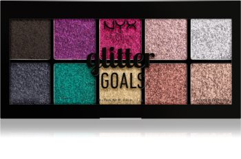 NYX Professional Makeup Glitter Goals Palette mit gepresstem Glitter