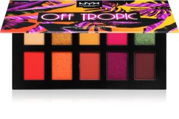 NYX Professional Makeup Off tropic paleta očních stínů