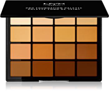 NYX Professional Makeup Pro Foundation Palette контурираща палитра за лице