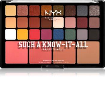 NYX Professional Makeup Such A Know-It-All Lidschatten & Kontourpalette