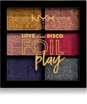 NYX Professional Makeup Love Lust Disco Foil Play paleta de sombras de ojos