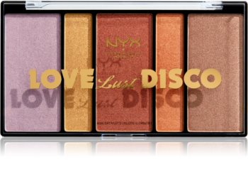 NYX Professional Makeup Love Lust Disco Highlight paletka rozjasňovačů