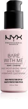 NYX Professional Makeup Bare With Me Hemp SPF 30 Daily Moisturizing Primer хидратираща основа под фон дьо тен SPF 30