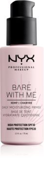 NYX Professional Makeup Bare With Me Hemp SPF 30 Daily Moisturizing Primer base de teint hydratante SPF 30