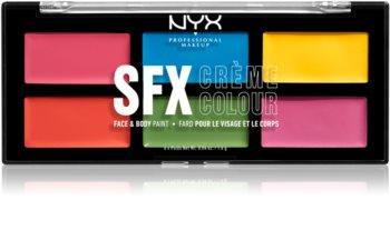NYX Professional Makeup SFX Creme Colour™ paletka na tělo a obličej
