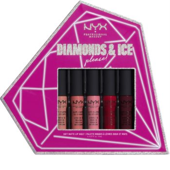 NYX Professional Makeup Diamonds & Ice козметичен комплект (за устни)