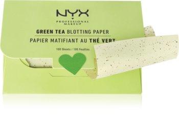 NYX Professional Makeup Blotting Paper papiers matifiants au thé vert