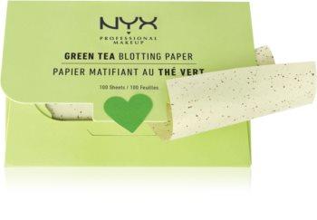 NYX Professional Makeup Blotting Paper papírky na zmatnění se zeleným čajem