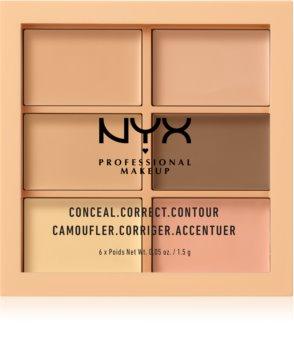 NYX Professional Makeup Conceal. Correct. Contour Korrektor és kontúrozó paletta