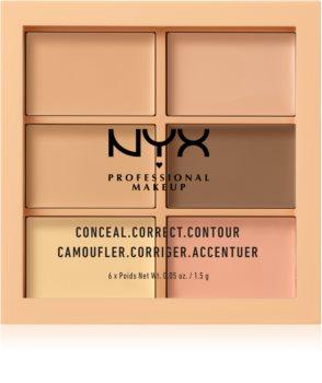 NYX Professional Makeup Conceal. Correct. Contour paletă de contur și corectare