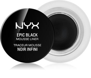 NYX Professional Makeup Epic Black Mousse Liner eyeliner rezistent la apă