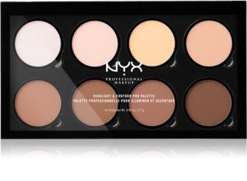 NYX Professional Makeup Highlight & Contour PRO Konturier-Palette für die Wangen