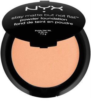 NYX Professional Makeup Stay Matte But Not Flat púdrový make-up s matným efektom