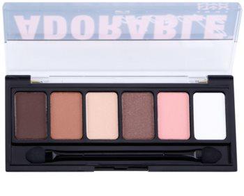 NYX Professional Makeup The Adorable palette de fards à paupières avec applicateur