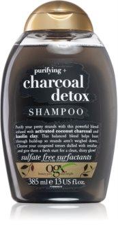 OGX Charcoal Detox почистващ шампоан за изтощена коса