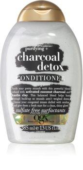 OGX Charcoal Detox почистващ балсам за изтощена коса