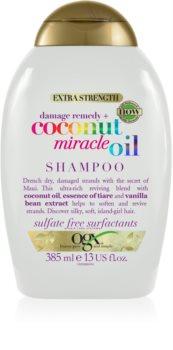 OGX Coconut Miracle Oil posilující šampon pro poškozené vlasy s kokosovým olejem
