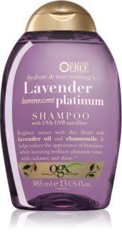 OGX Lavender Platinum тониращ шампоан за студени руси нюанси