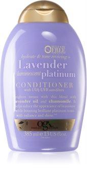 OGX Lavender Platinum tónovací kondicionér pro studené odstíny blond