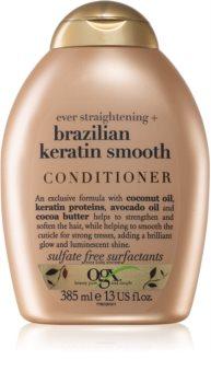 OGX Brazilian Keratin Smooth glättender Conditioner für glänzendes und geschmeidiges Haar